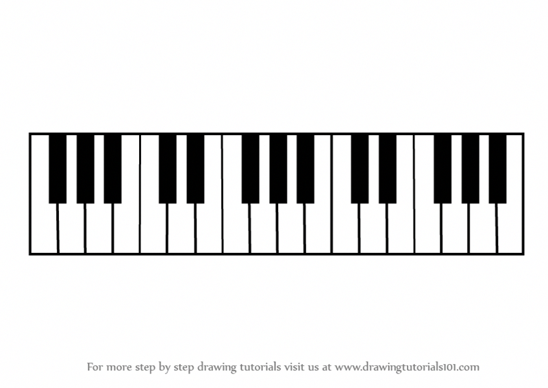 Learn How to Draw Piano Keys (Musical Instruments) Step by