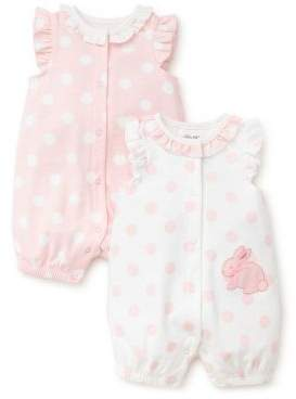 f45db76da Little Me Baby Girl's Two-Pack Bunny Cotton Rompers | Future family ...