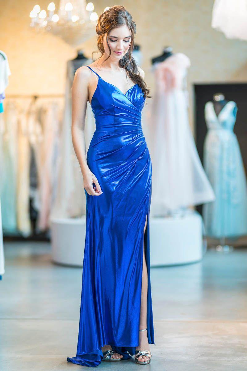 Abendkleid - Blau - Metallic in 20  Abendkleid, Kleider