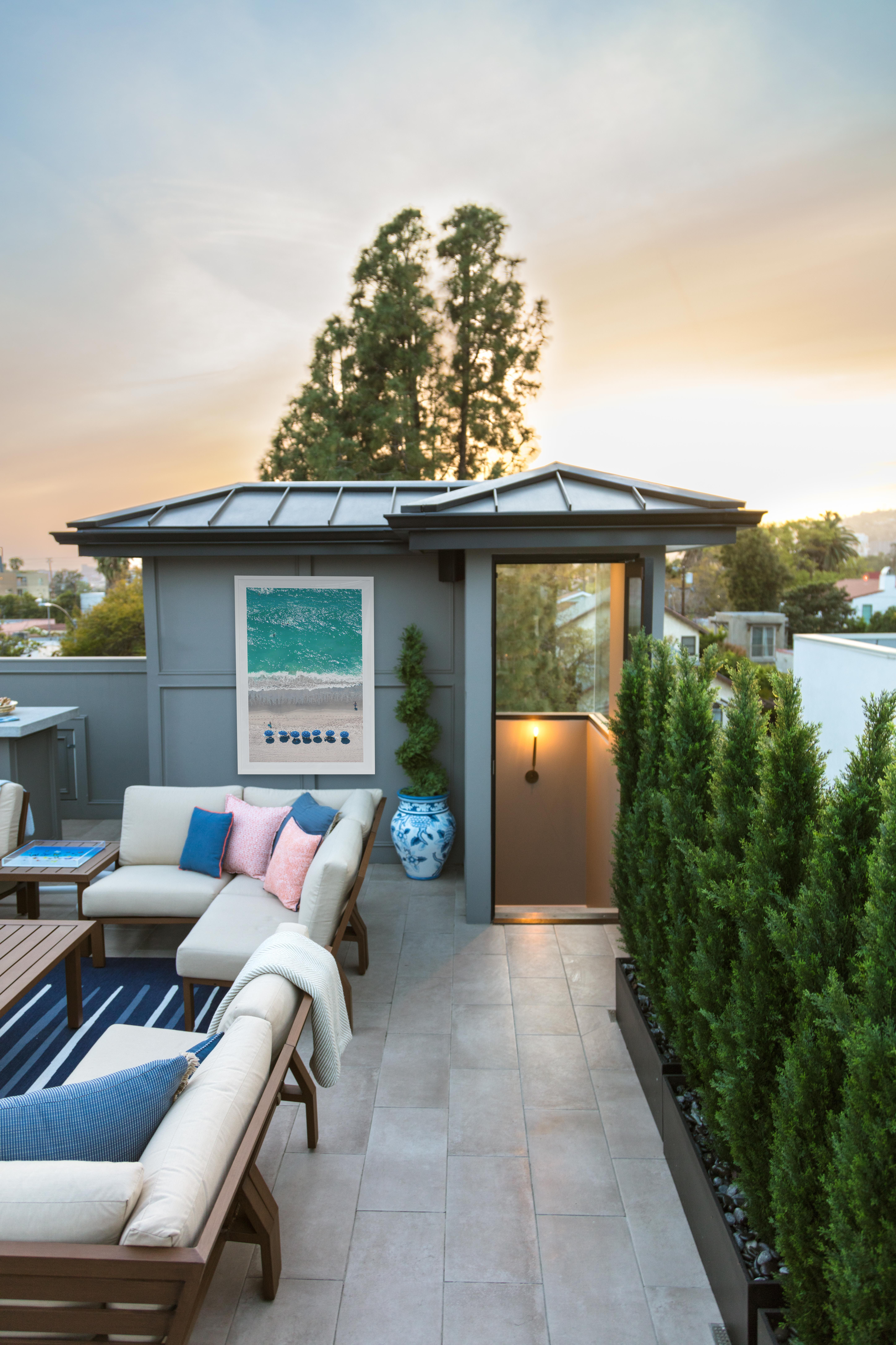 Gray S Home Week Five One Room Challenge Final Touches Outdoor Patio Space Rooftop Design Patio