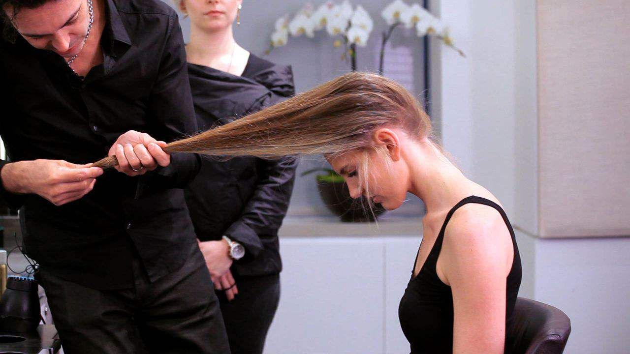 Learn How To Cut Long Hair Yourself From Pierre Michel Salon Style