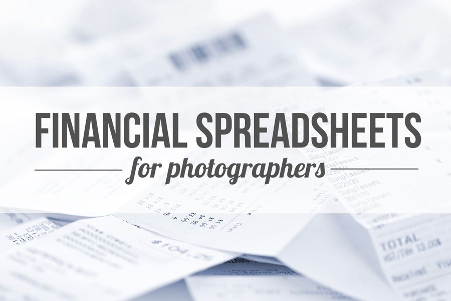 Financial spreadsheets Photographers, Photography business and