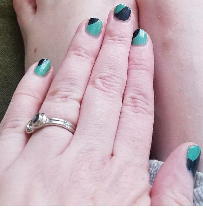 Navy blue and mint green nail polish colors | fashion jewelry ...