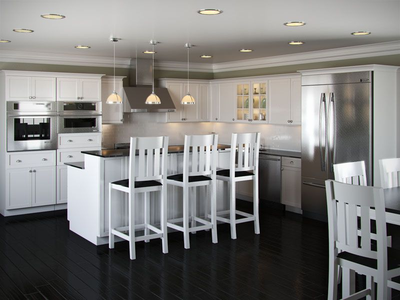 L+Designs+Kitchen+with+Islands | Shaped Kitchen with Island ... on