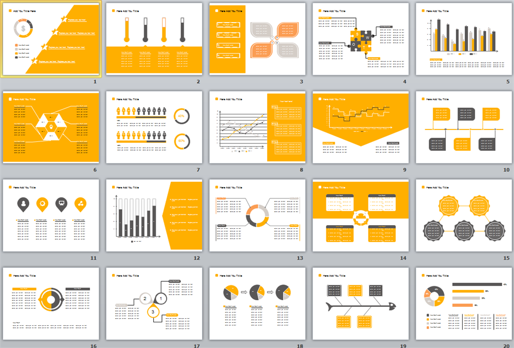 Yellow ppt template | PPT Template | Pinterest