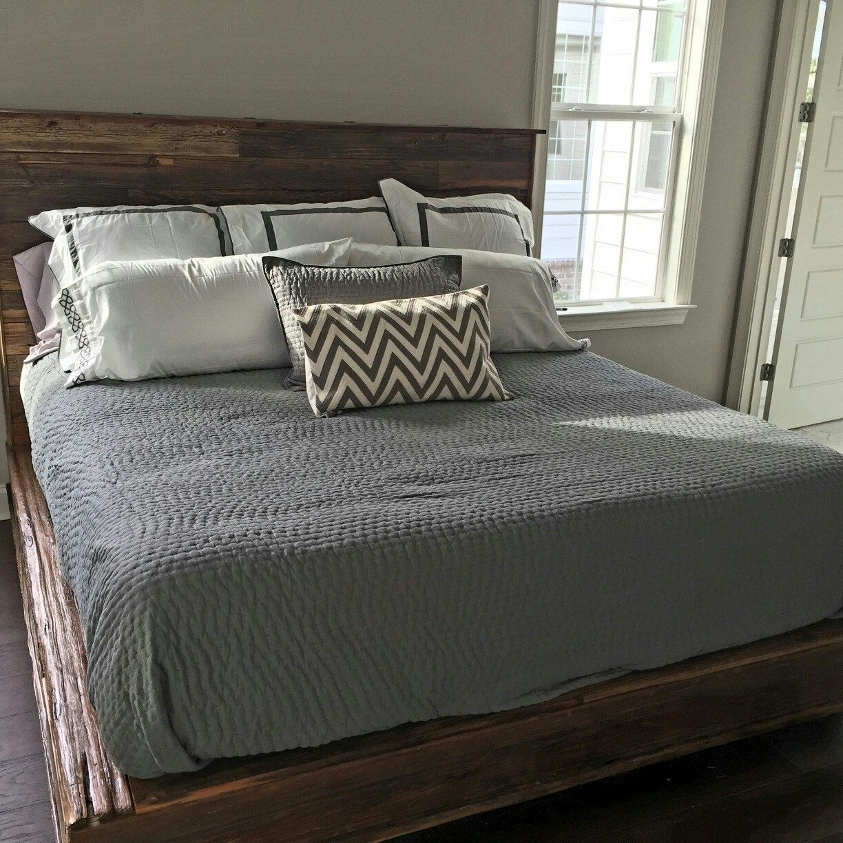 Our bed finally put together at our customer's house Bed