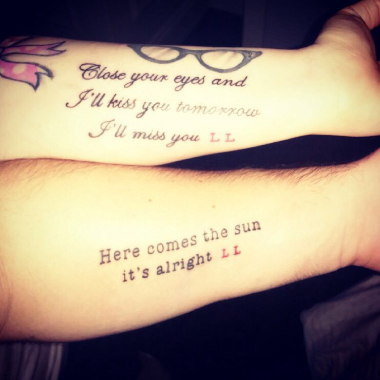 Couple Tattoos Quotes Quotesgram: Husband And Wife Tattoo Quotes. QuotesGram