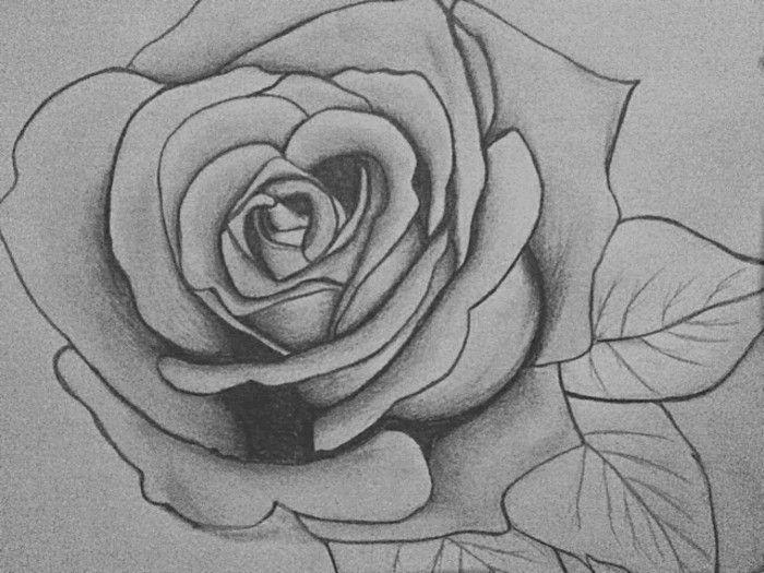 Disegni A Matita Facili Ma Belli Disegno Di Una Rosa Fai Da Te In