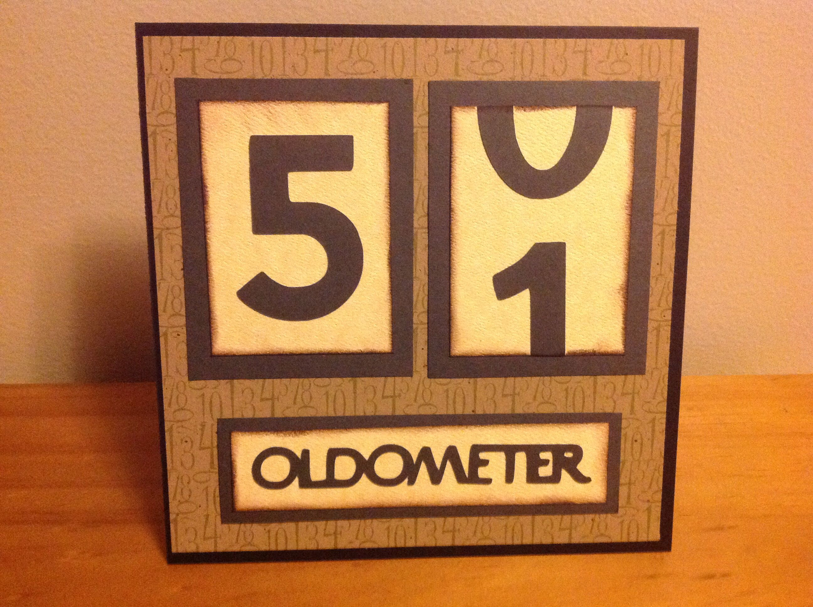 Oldometer birthday card Cards I have made