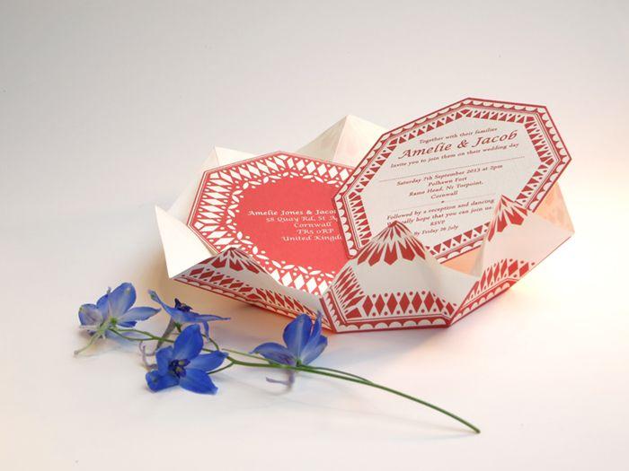 Anja jane origami wedding invitations invitations pinterest anja jane origami wedding invitations stopboris Image collections