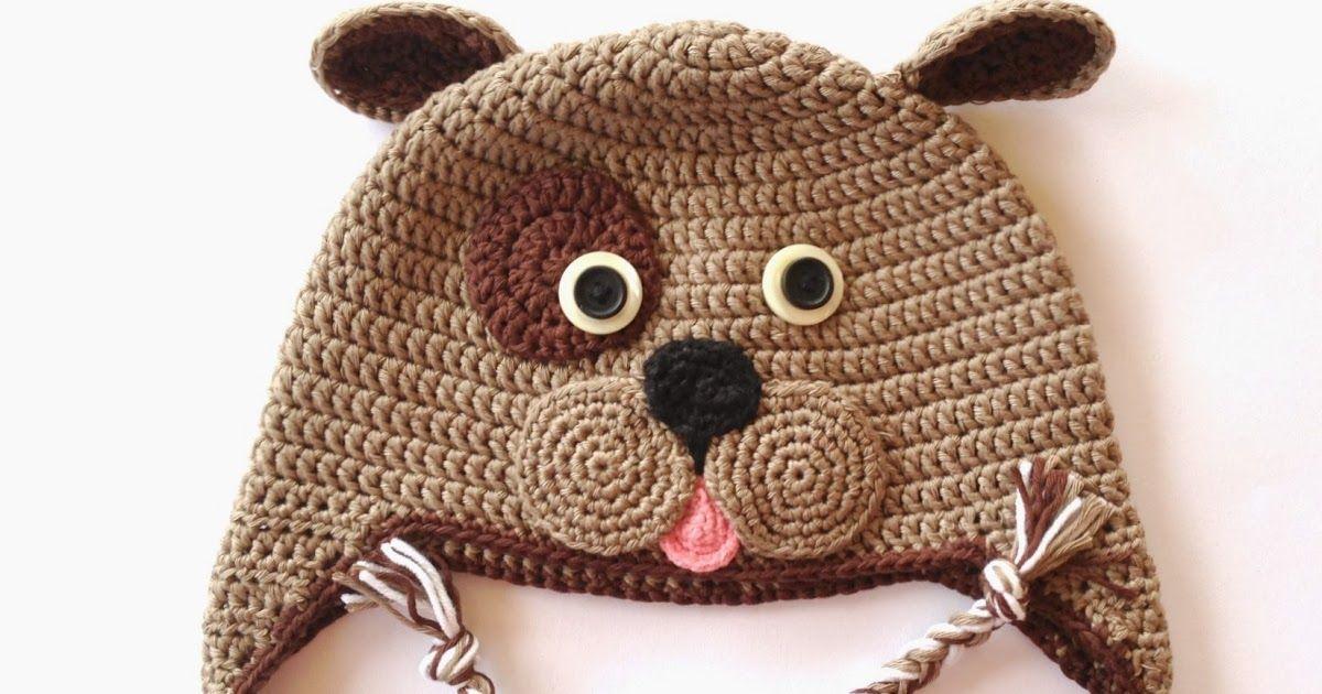 Patrón para realizar un gorro perrito a crochet, ideal para niños ...