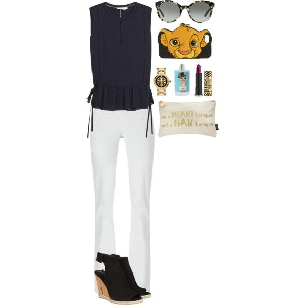 untitled 396 by zanne050 on Polyvore featuring Tory Burch, Wet Seal, Urban Decay, Lipsy, white and black