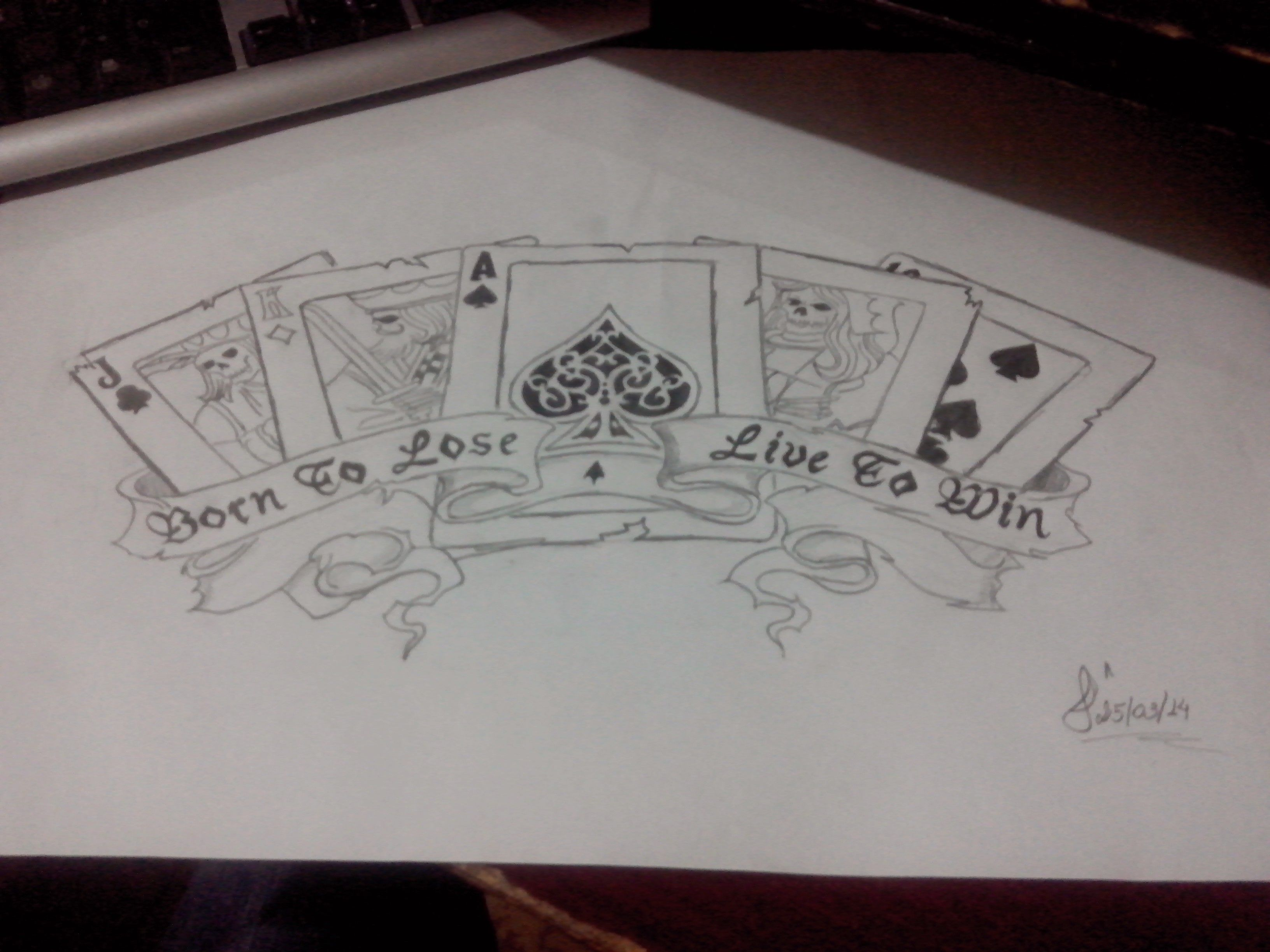 poker blackjack cards draw blacknwhite tatoo chest