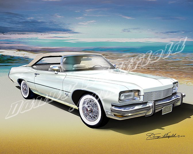 CUSTOMIZED 1973 BUICK CENTURION 455 CONVERTIBLE  (Eggshell White) available at: http://www.dannywhitfield.com/buickfullsize.html