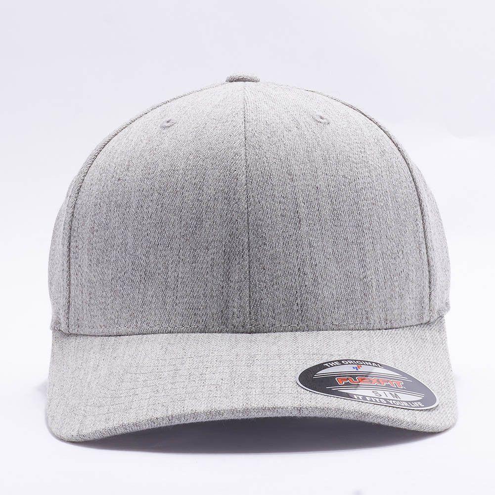 Flexfit Yupoong 6477 Flexfit Wool Blend Hat Wholesale  Heather Grey ... 983dc18dcfd