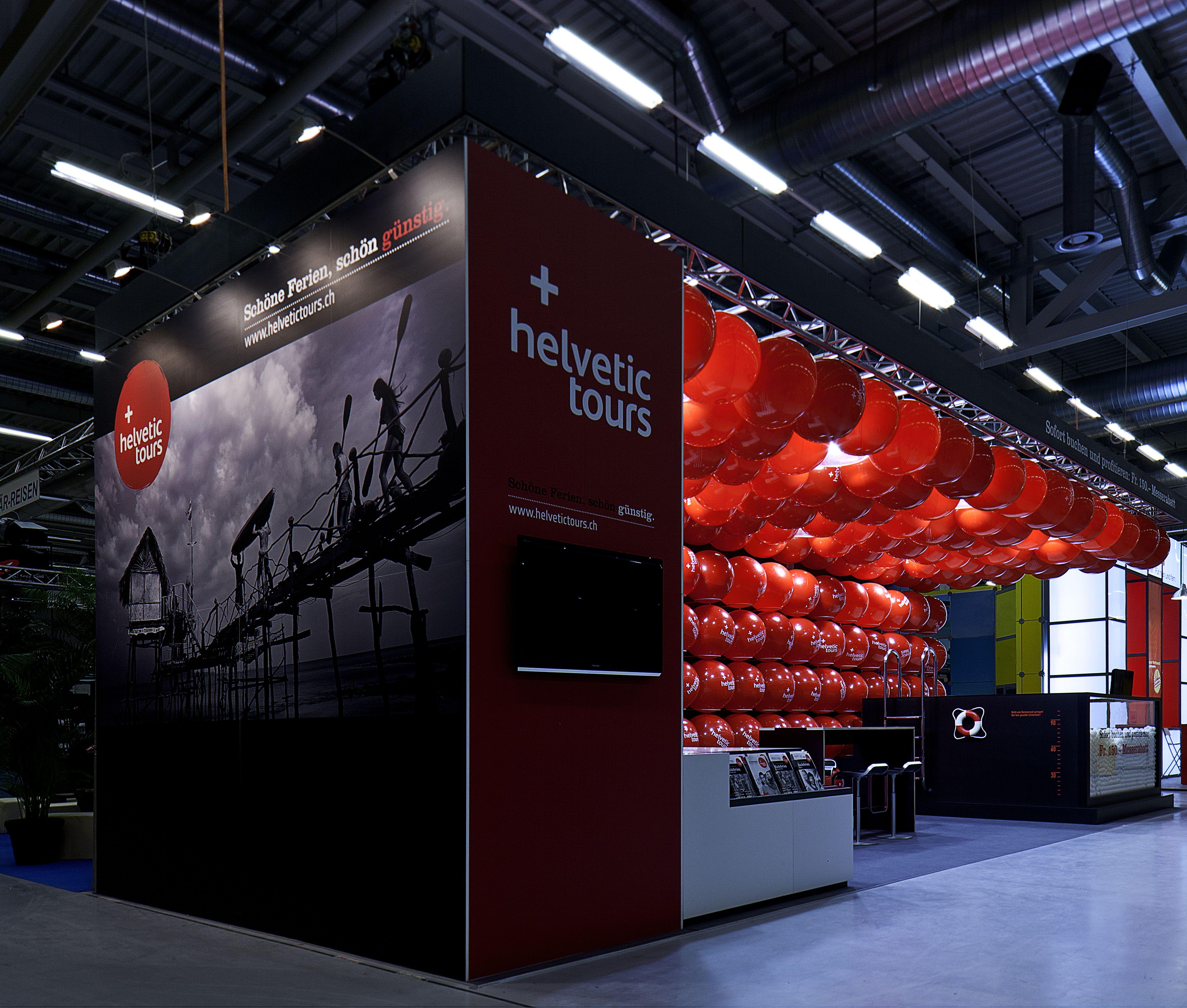 Trade Fair Stands Design : Helvetic tours trade fair stand design by dreimeta booth
