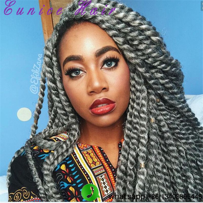 "Havana Mambo Twist Crochet Braid Hair 18"" Synthetic Plain ..."