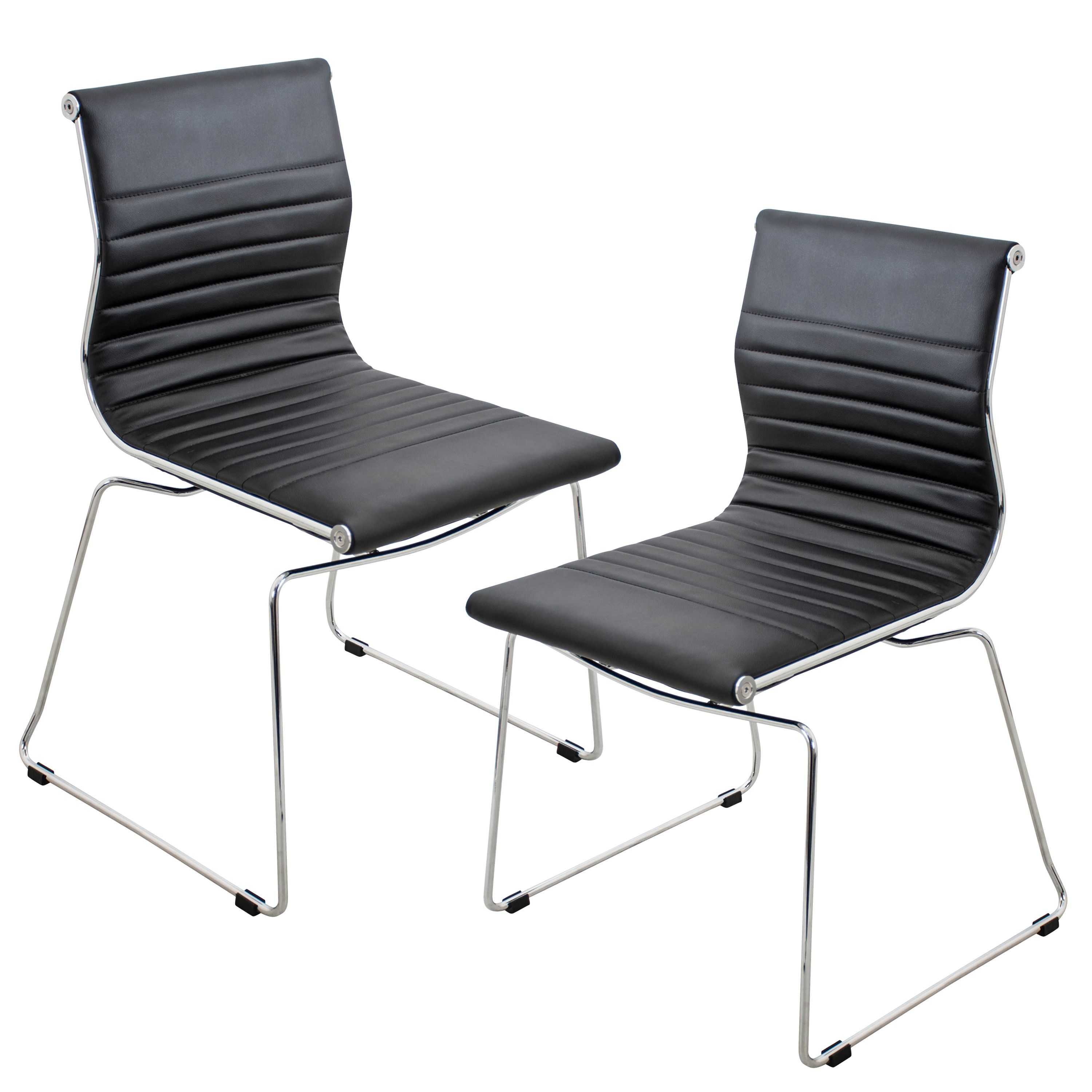 Lumisource Master Stackable Dining Accent Chair Set of 2