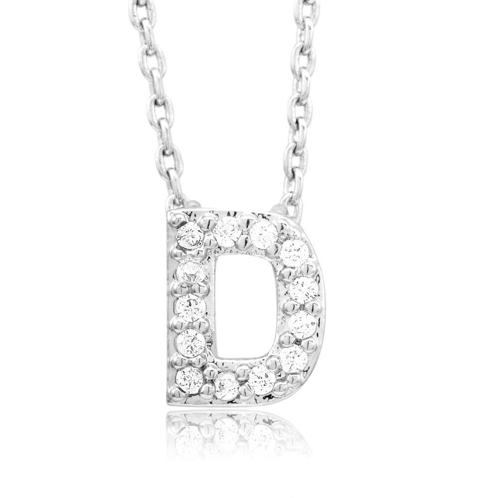 Beverly hills sterling silver plated cubic zirconia letter ua