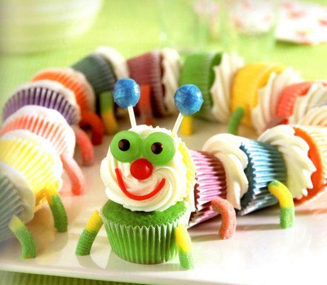 Catapiller cupcake