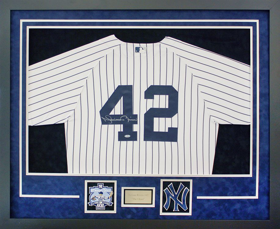 Yankees jersey with patch, plate, and custom cut Yankees cutout ...