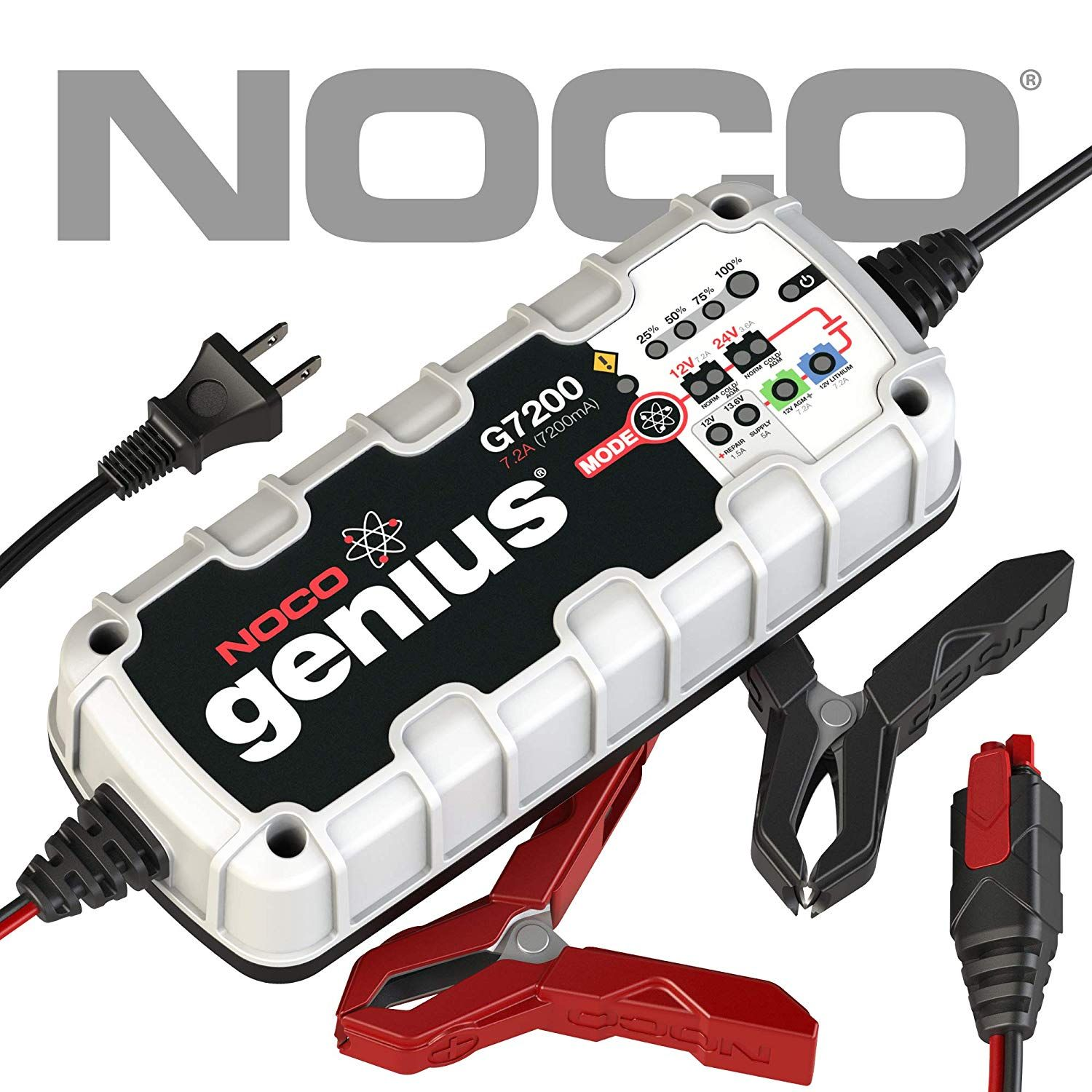 Noco Genius G7200 12v 24v 7 2a Ultrasafe Smart Battery Charger Click Image For More Details This Is An Aff Car Battery Charger Car Battery Battery Charger