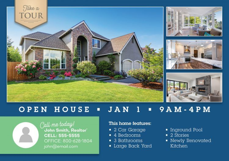 Real Estate Open House Postcards