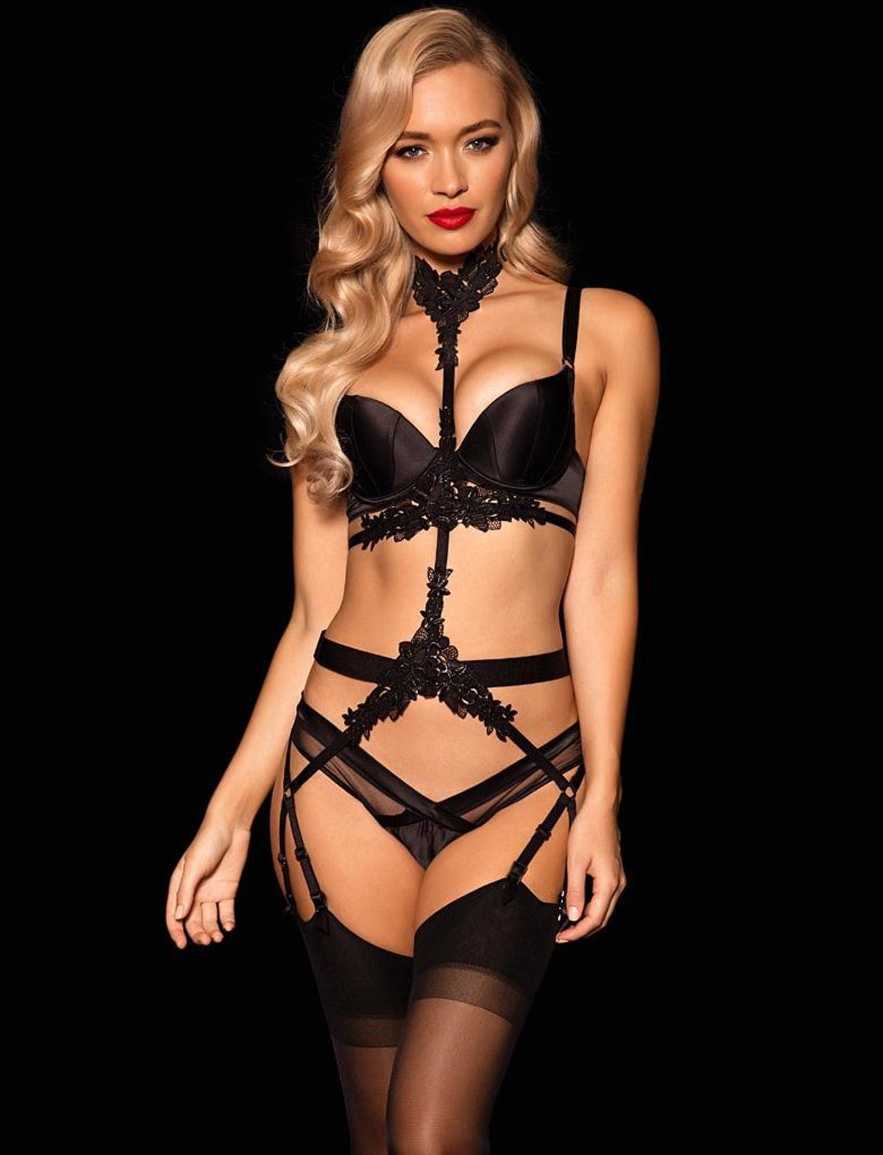 5ec9cdf78fcd4 Eve Brief & Suspender Set - Shop Lingerie | Honey Birdette ...