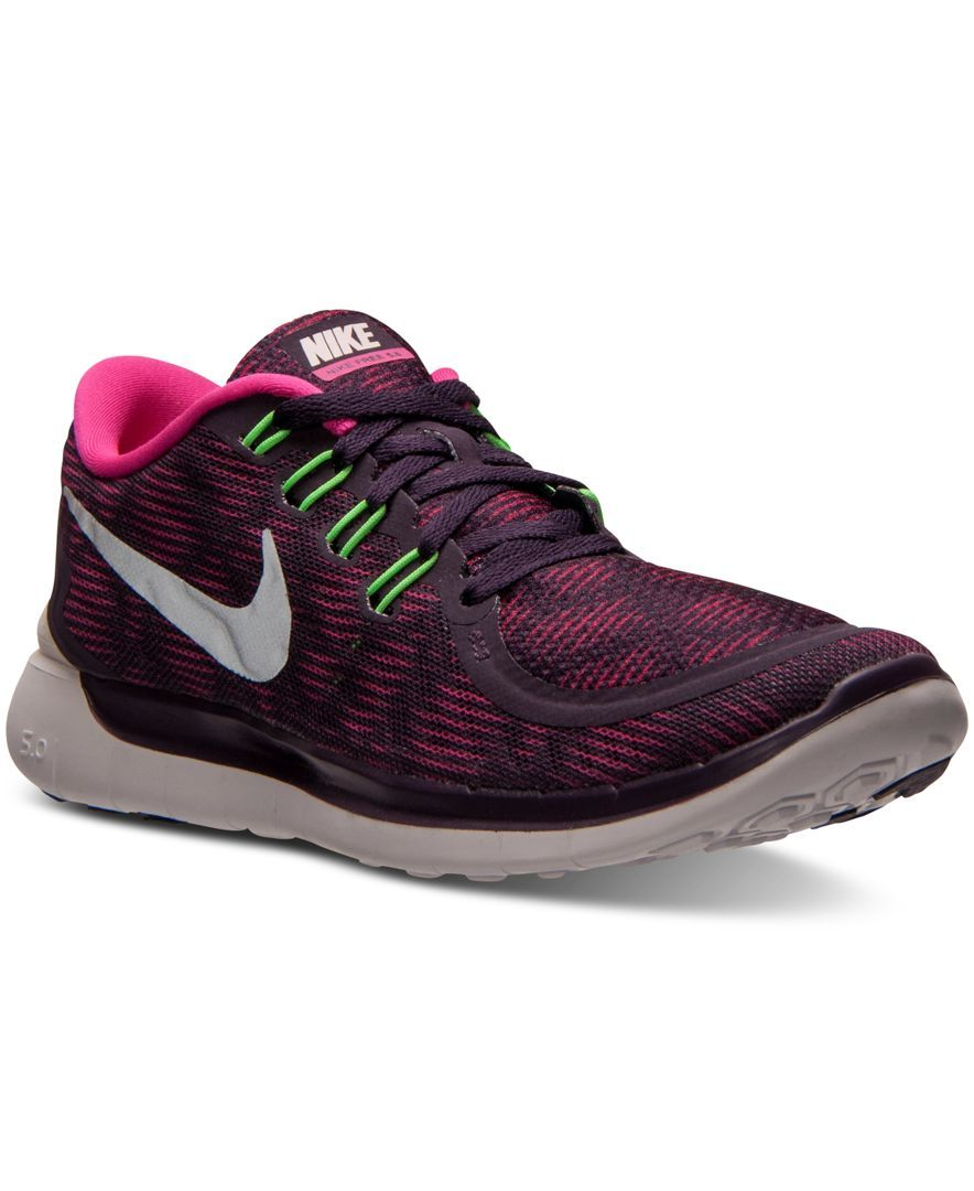 outlet store 381f4 cd6b0 Nike Women s Free 5.0 Print Running Sneakers from Finish Line   Products    Pinterest   Running sneakers, Running and Products