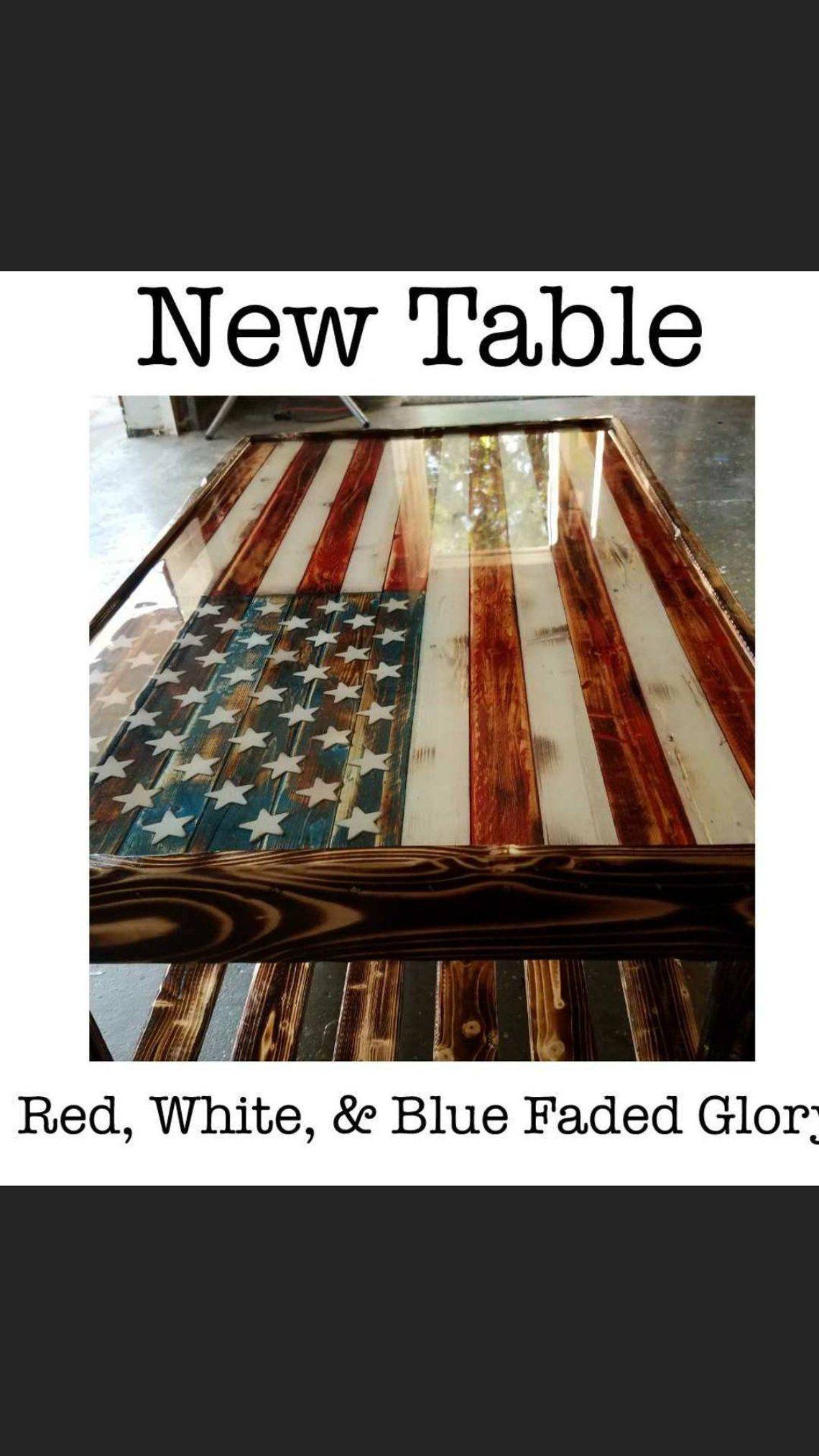 American flag coffee table etsy coffee table