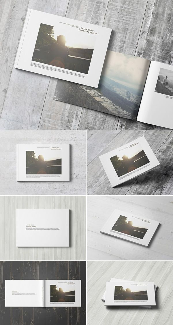 a4 landscape magazine    catalogue mockup psd mockups