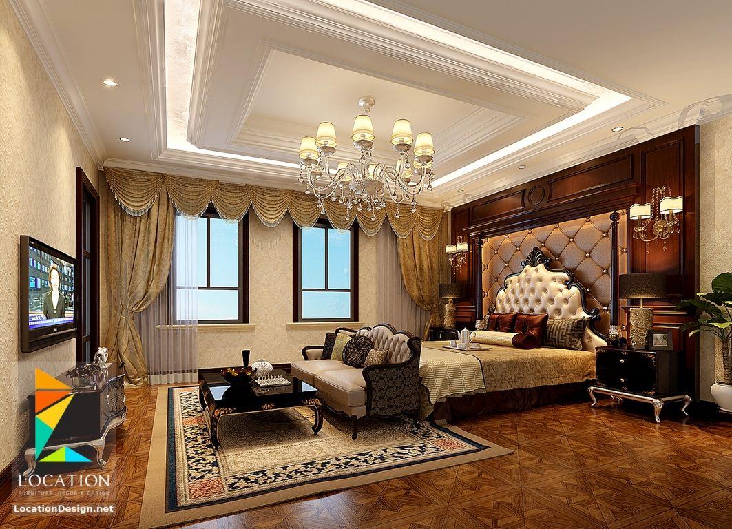 غرف نوم حديثه من اجمل ديكورات غرف النوم الرئيسية لوكشين ديزين نت False Ceiling Design Interior Design Dining Room Elegant Kitchen Design