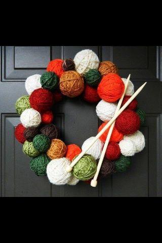 Yarn Ball Wreath - This is my kind of wreath!!!