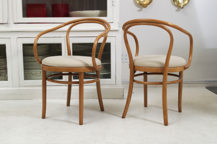Thonet Dining Chair Thonet Dining Chair Pair Barrel Back Beech – Thonet Dining Chair