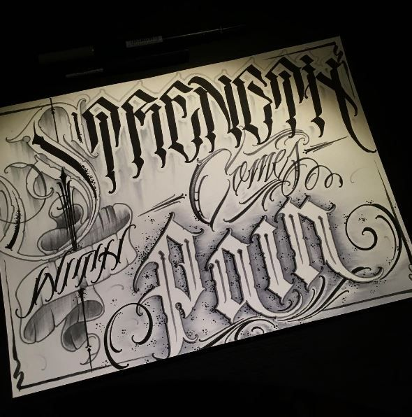 Pin By Billie Jean Zapata On Tattoos Chicano Lettering Tattoo