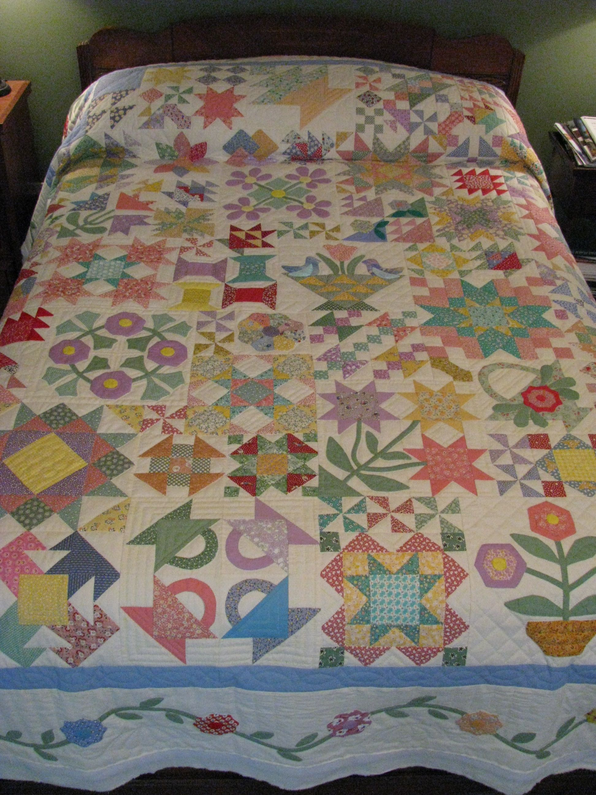 I am a suckered for vintage and sample quilts!! 1930's Sample ... : 1930s quilt patterns - Adamdwight.com