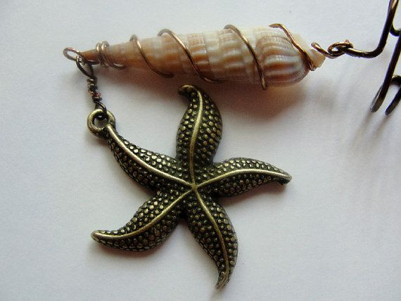 Ear Cuff Ear Vine Brass Starfish Charm Wire by Lilacmoonjewelry SOLD!