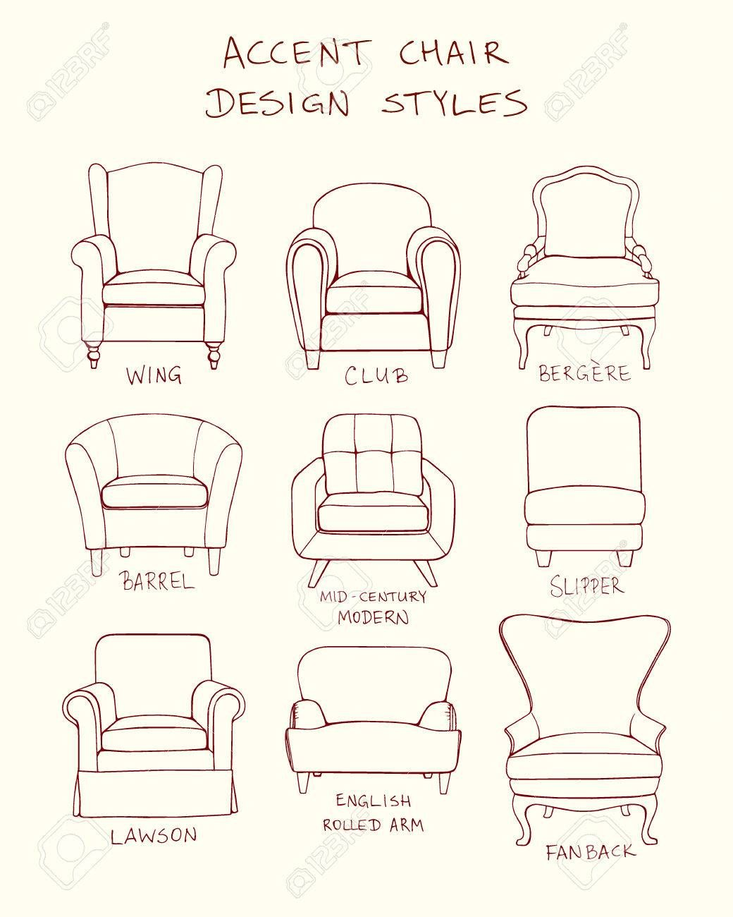 Chair Style Guide Chair Design Arm Chair Styles Interior Design History