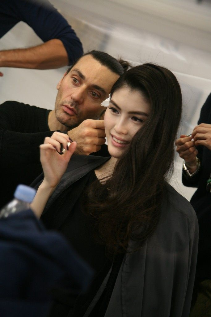 Sui He for Dior - backstage