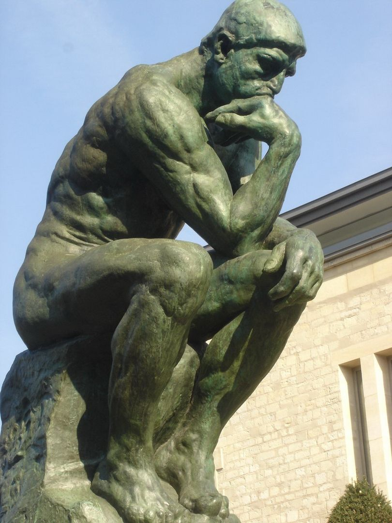 Auguste Rodin The Thinker At The Musee Rodin Paris Viie France