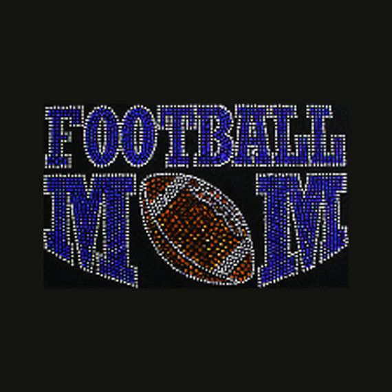 Football Mom 5x8.5 Football Rhinestone Bling by BlingByBates