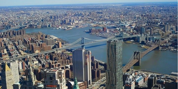 Brooklyn Bridge and Manhattan Bridge, New York City, New York, USA, North America
