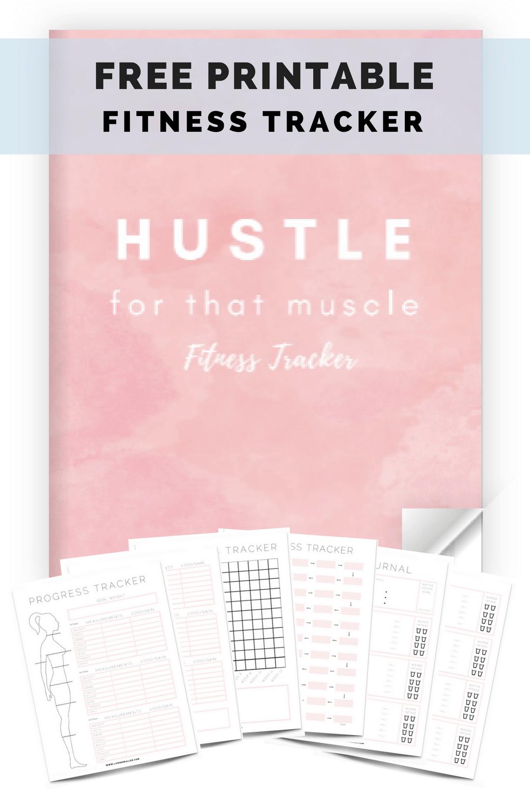 Free Printable Fitness Tracker - Cassie Scroggins,  #Cassie #fitness #Fitnessplanner #Free #Printabl...