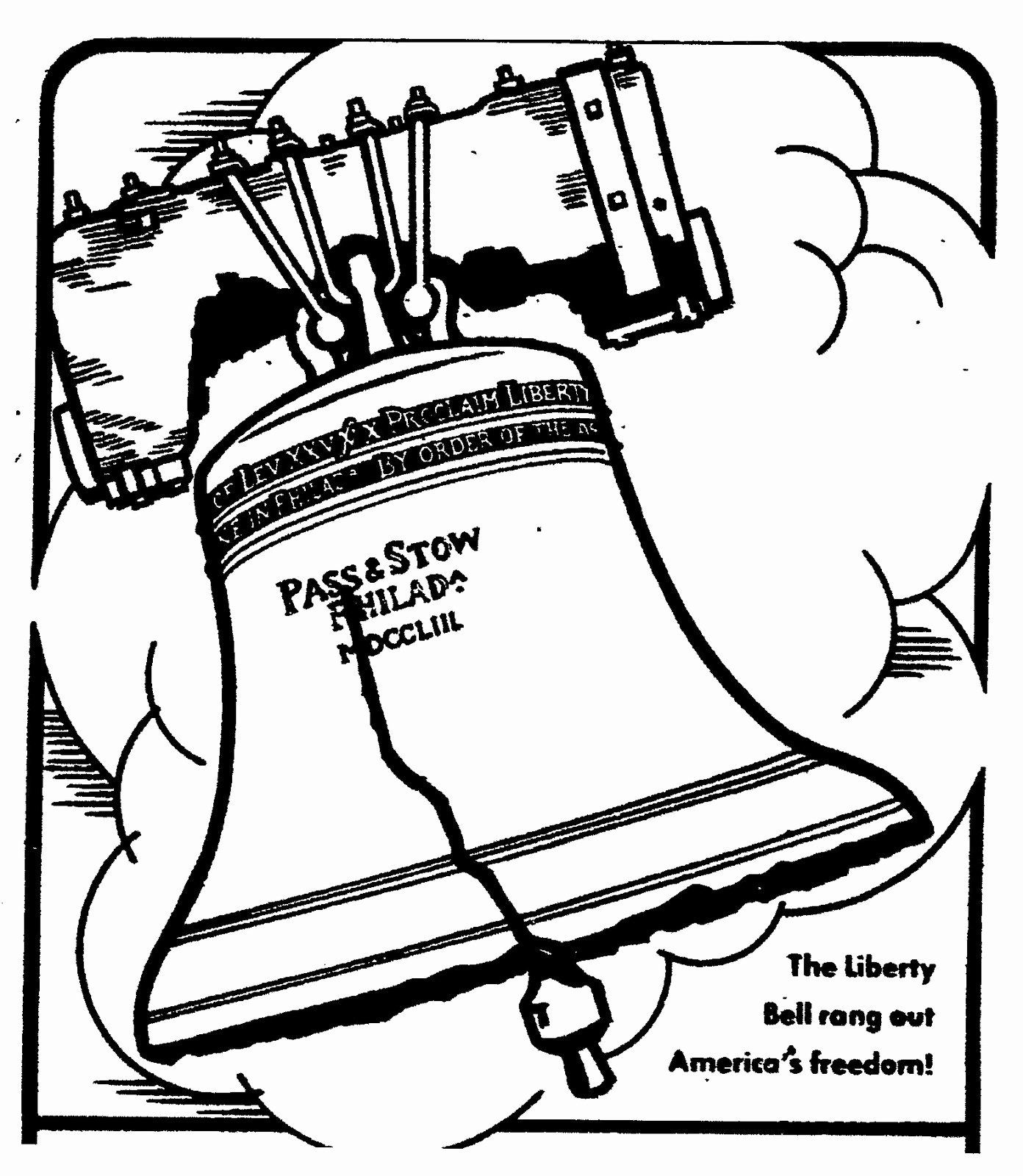 32 Liberty Bell Coloring Page In