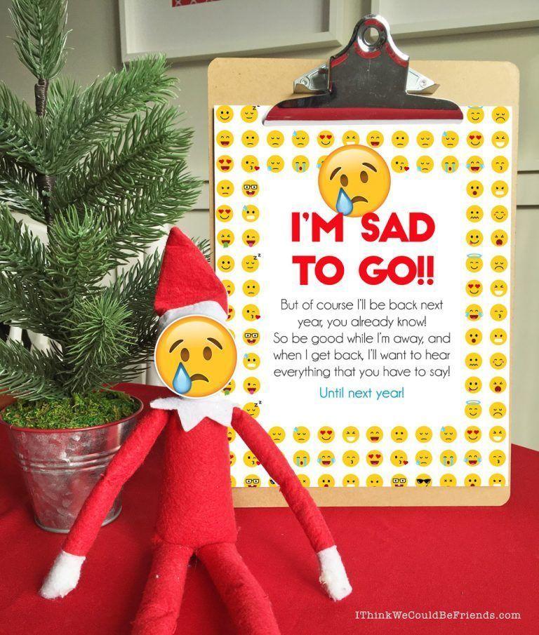 Elf On The Shelf Goodbye + Elf On The Shelf , #Elf #elfontheshelfideasfortoddlersintro #Good...
