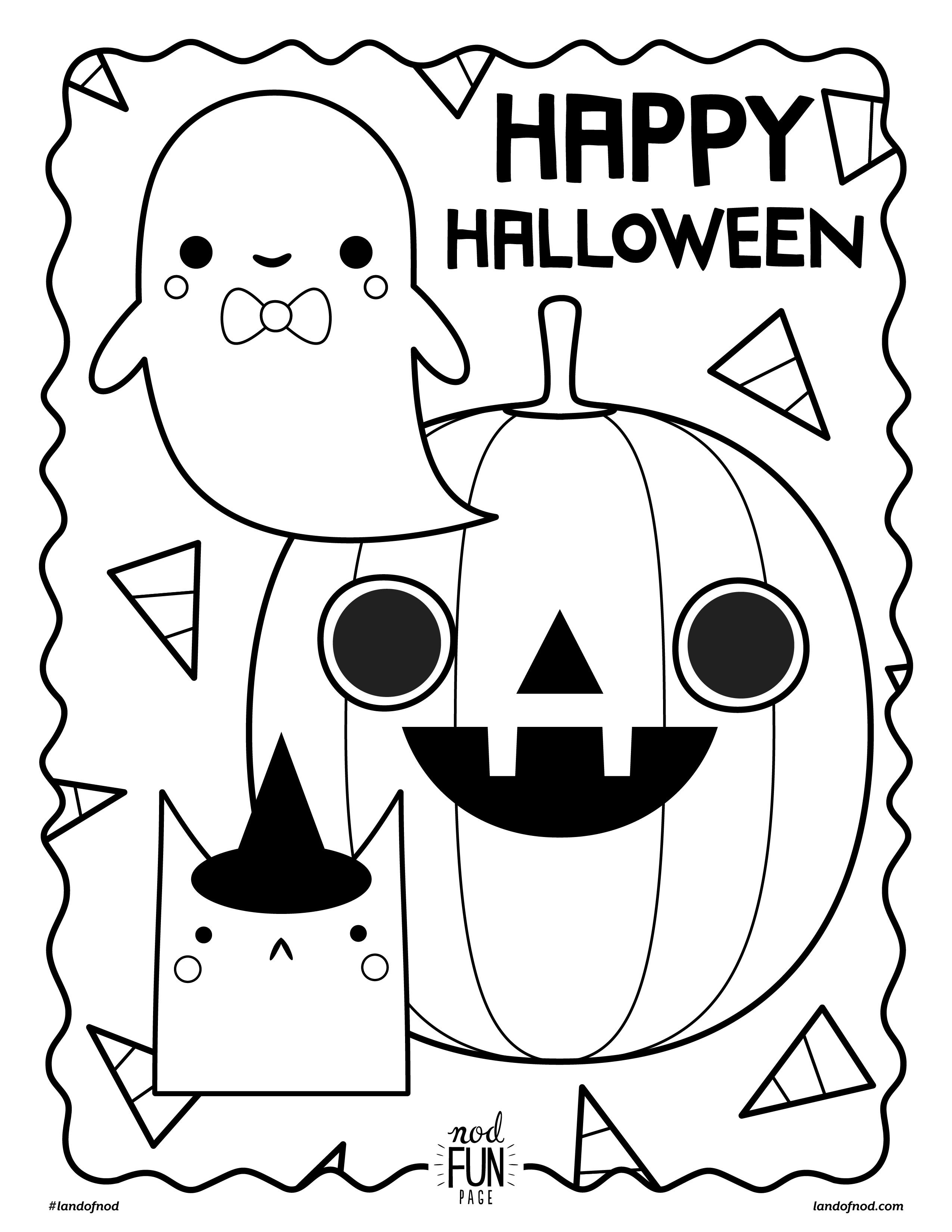 Halloween Coloring Pages - Easy Peasy and Fun | 3300x2550