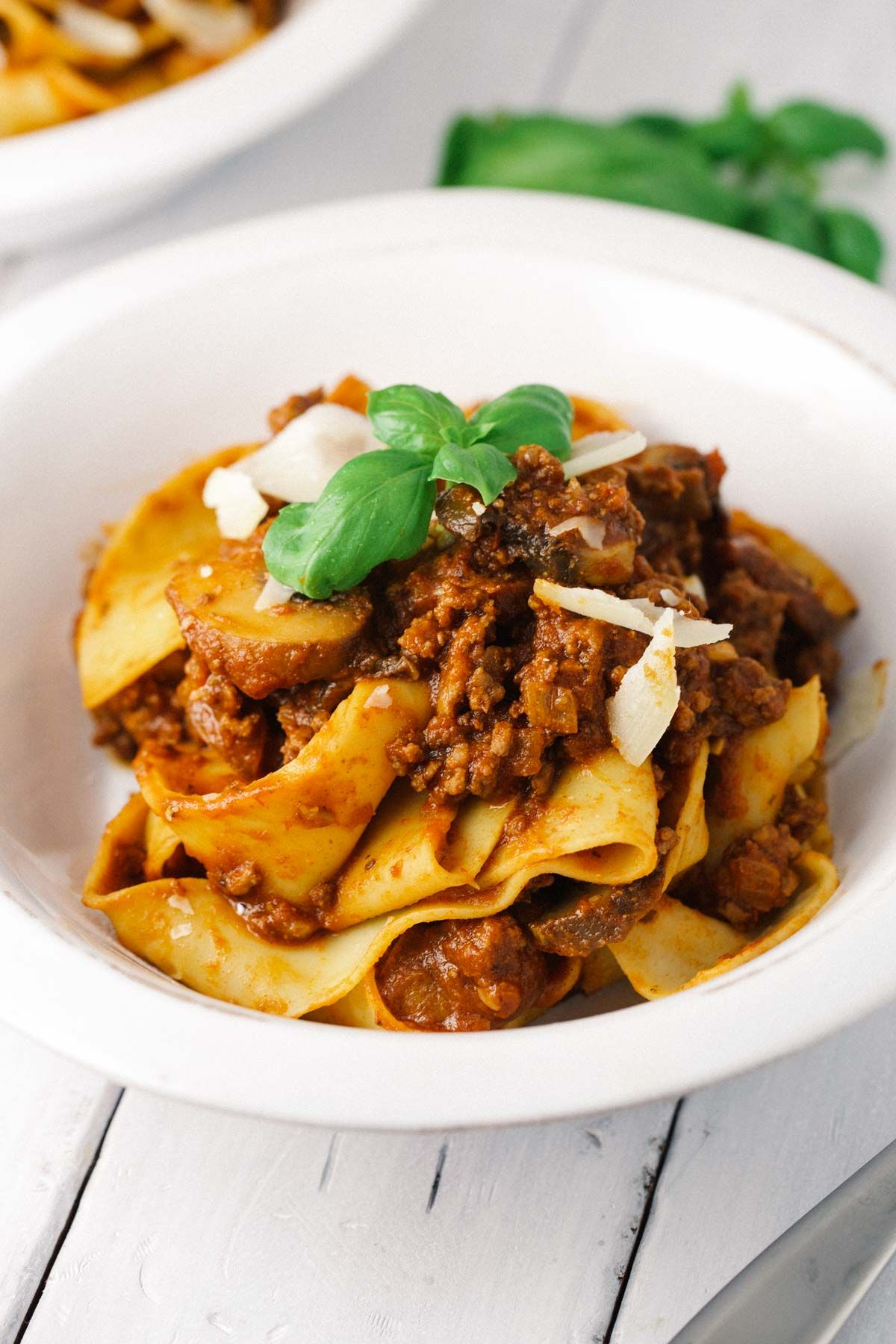 Beef Bolognese Sauce With Pappardelle Pasta Recipe Pappardelle