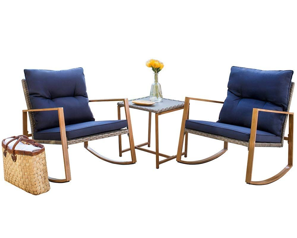 Affordable Mid Century Modern Patio Outdoor Furniture Rocking