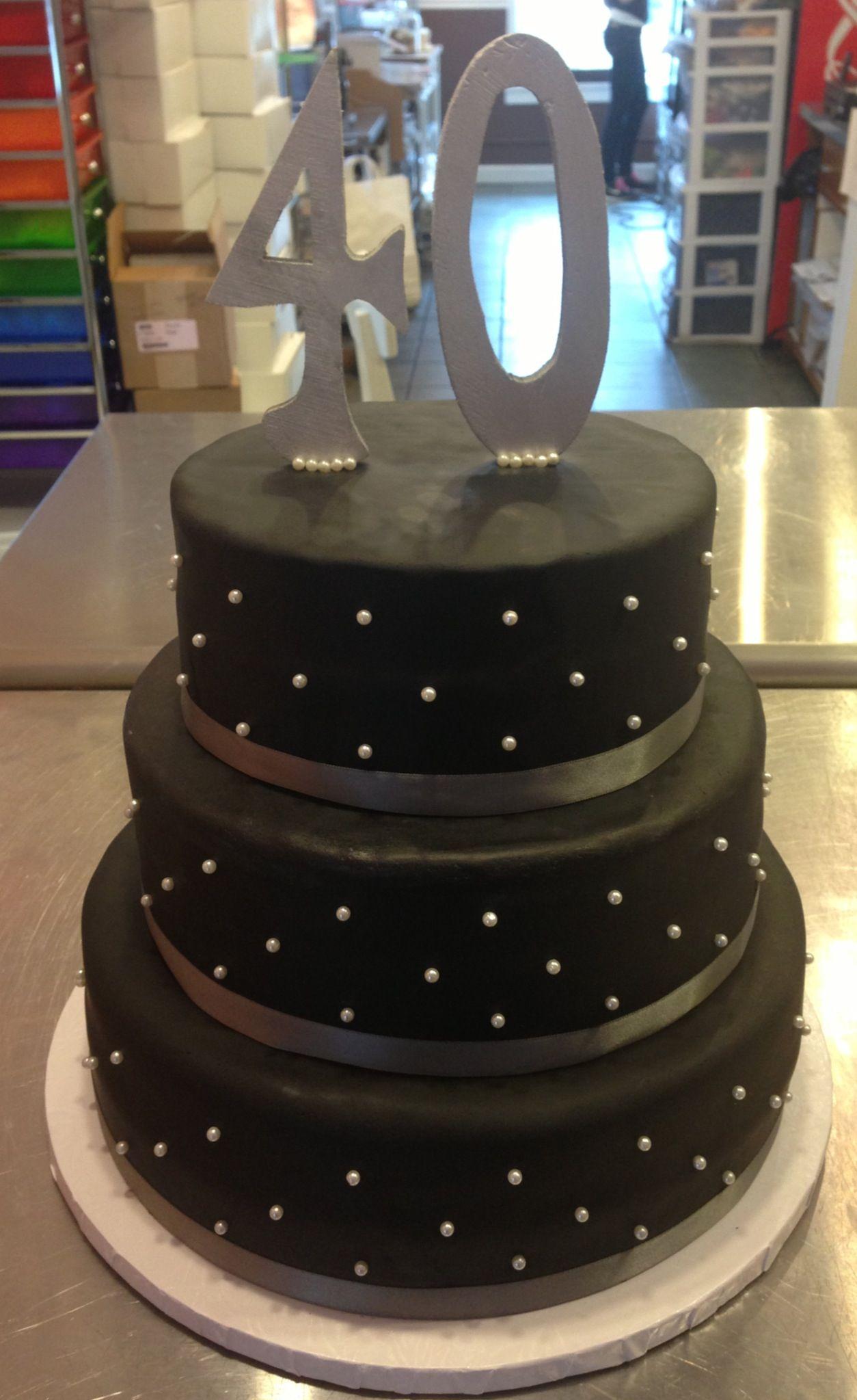 40th Birthday Cake Simple Cake Idea 40th Birthday Cakes 40th