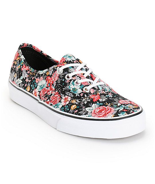 af467bc51ba011 Let your style blossom in classic style with these low profile shoes that  are made with a colorful floral print canvas upper and durable vulcanized  outsole.